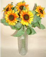 Artificial Bundle of 5 Sunflowers