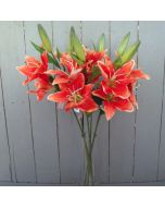 Artificial Orange Lily Flowers