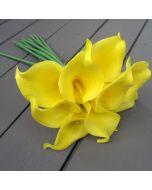 Artificial Yellow Calla Lilies