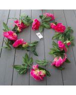 Pink Peony Garland