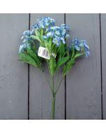 Artificial 32cm Blue Forget-Me-Not Bush