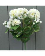 Artificial Ivory Geraniums