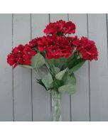 Artificial 56cm Red Hydrangea Bush