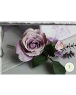 Artificial Lilac Rose and Hydrangea Corsarge