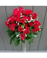Artificial 35cm Mini Red Rose Bush