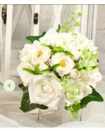Artificial Cream Rose Medium Bouquet