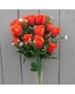 Artificial orange rose bush