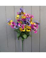 Artificial Pansy Flower Bush