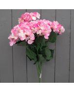 Artificial 56cm Pink Hydrangea Bush