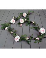 Artificial 180cm Light Pink Rose Garland