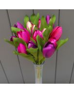 Artificial 24cm Purple and Pink Tulips