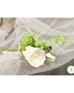 Artificial Cream Rosebud Buttonhole