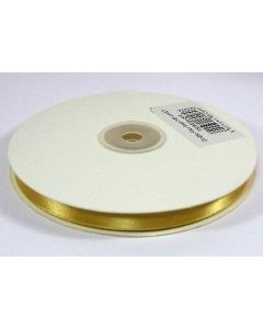 Full 50m Roll of 10mm Gold Satin Ribbon