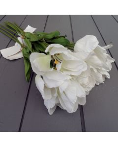 12 Artificial White Tulips