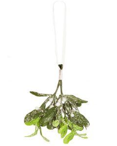 Artificial Mistletoe on Ribbon