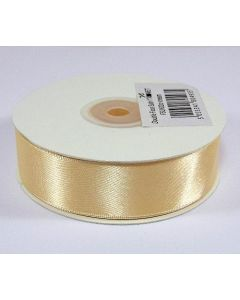 Full 25m Roll of 25mm Cream Satin Ribbon