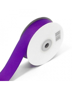 Full 25m Roll of 25mm Purple Grosgrain Ribbon