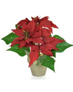 26cm Artificial Poinsettia Plant in Pot