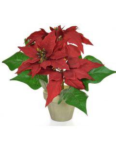 26cm Artificial Poinsettia Plant in Pot
