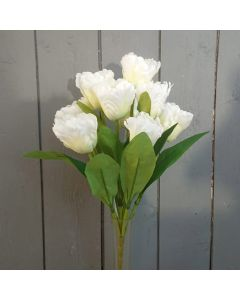 Artificial 43cm Ivory Tulip Bush