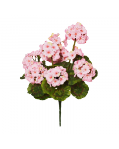 47cm Artificial Pink Geranium Bush