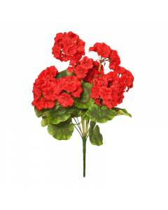 47cm Artificial Red Geranium Bush