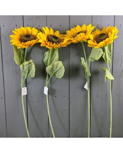 4 x 62cm Artificial Sunflower