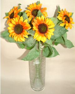 Artificial Bundle of 5 Sunflowers