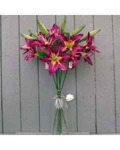 Artificial Mauve Lilies