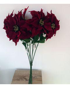 6 x Artificial Poinsettia Stems