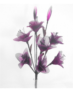 Purple and Black Nylon Flowers