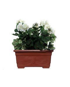 Artificial Cream Geranium Planter Pot