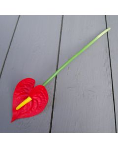 Artificial 30cm Real Touch Red Anthurium