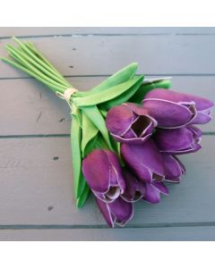 Artificial Purple Real Touch Tulips