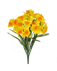46cm Artificial Yellow Daffodil Bush - 28 Flower Heads