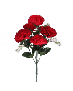 Artificial Red Carnations - 7 Heads