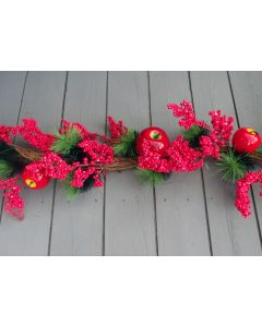 Artificial Red Berry and Apple Garland
