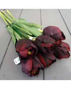 Artificial Aubergine Tulips