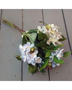 35cm Artificial Blue Hydrangea Bunch