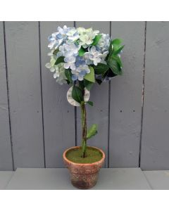 Artificial Blue Hydrangea Plant in Pot
