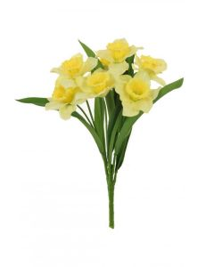 46cm Artificial Yellow Daffodil Bush