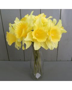 Artificial Daffodils with Vase
