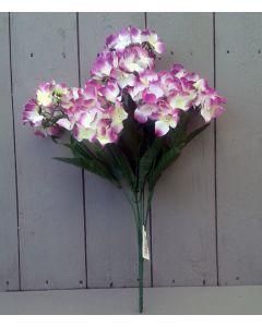 Artificial 44cm Dark Pink Hydrangea Bush