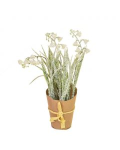 Artificial Frosted Snowdrop Plant