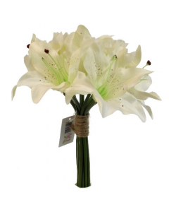 Artificial 26cm Ivory Lily Bunch