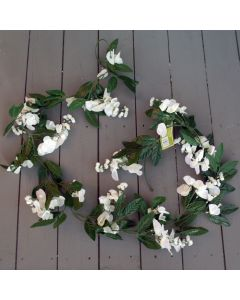 Artificial Ivory Wisteria Flower Garland