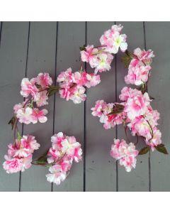 Artificial Light Pink Blossom Garland
