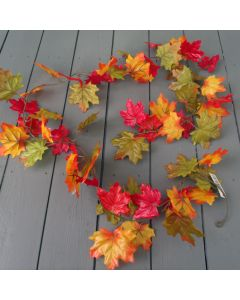 Artificial Orange Autumn Maple Leaf Garland