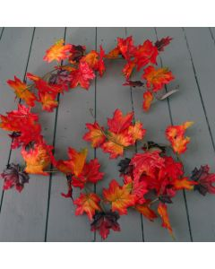 Artificial  Red Autumn Maple Leaf Garland