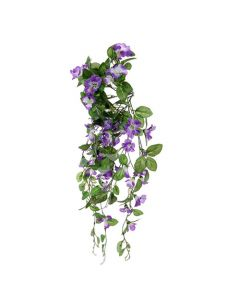 Artificial 60cm Trailing Purple Morning Glory